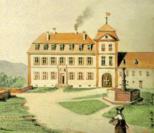 Vorburg, spätbarockes Kanzleigebäude, um 1800.
