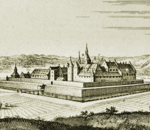 Schloss Heitersheim, Topographia Germaniae, 1643.