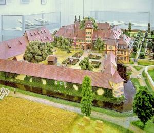 Schloss Heitersheim im Modell, Bauzustand um 1773.