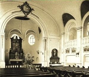 Schlosskirche St. Ludwig, Originalzustand, 1910.