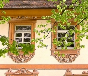 Kernburg, rekonstruierte Freskomalerei, 16. Jh.