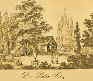 Poetenwinkel im Garten des Kanzlerhauses, 1805.